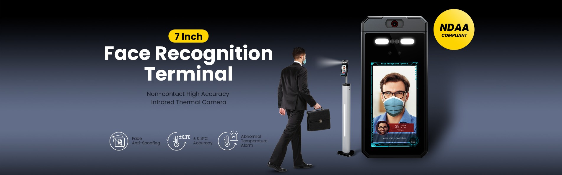 Sunell 7 inch Face Recognition Terminal